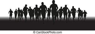 Eine Gruppe Läufer.