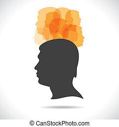 Eine Gruppe von Leuten auf dem Kopf