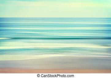 Eine lange Wellenlandschaft