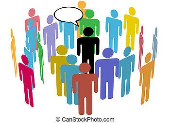 Eine Menge von Social-Media-Team-Sprechern