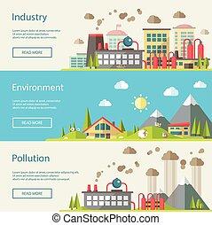 Eine Reihe moderner, konzeptioneller ökologischer Abbildungen.