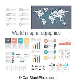 Eine Reihe von infographischen Elementen