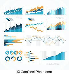 Eine Reihe von infographischen Elementen.