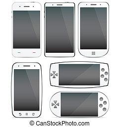 Eine Reihe von Smartphone-Konzepten.