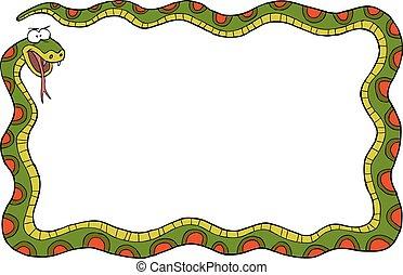 Eine Schlange.