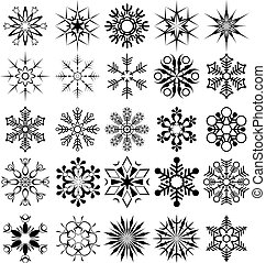 Eine Schneeflocke-Sammlung