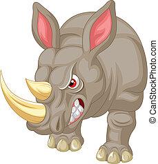 Eine wütende Nashorn-Figur