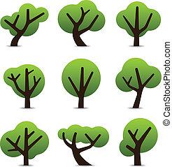 Einfache Baum-Ikonen