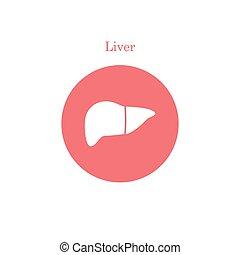 Einfache Leber-Ikone