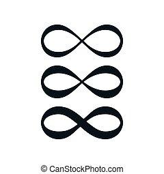 Einfache Unendlichkeitssymbol-Set.