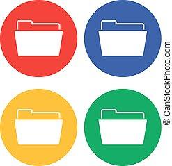 einfache , wohnung, büroordner, ikone