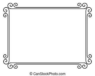 Einfacher Dekorationsrahmen