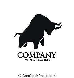 Einfaches, kräftiges Silhouette Logo