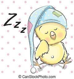 eingeschlafen, huhn