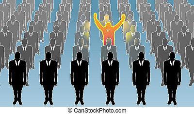 Einzelnes Geschäftskonzept illustriert