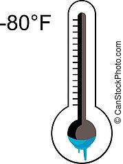 Eiskaltes Thermometer.