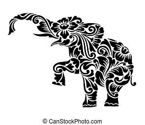 Elefant Blumenschmuck