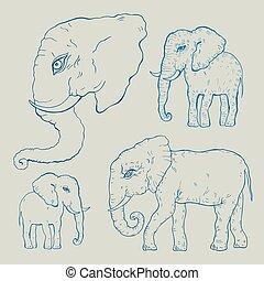 Elefant. Vector Illustration