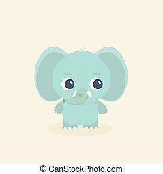 Elefant vektorgrafik.
