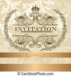 Elegante Einladungskarte im Licht