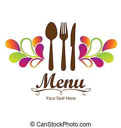 Elegante Karte für die Speisekarte