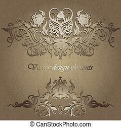 Elegante Muster auf einem nahtlosen Hintergrund