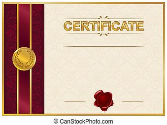 Elegante Vorlage von Zertifikat, Diplom