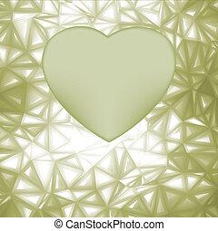 Eleganter Herzrahmen mit Raum für Konzept. EPS 8
