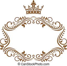 Eleganter königlicher Rahmen mit Krone.