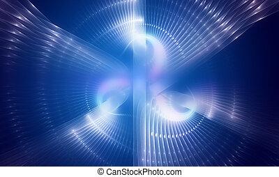 Elektrisches, blaues, abstraktes Design-Technologie-Hintergrund.