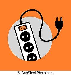 Elektrisches Kabel-Icon.