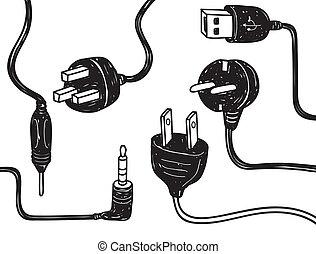 elektrizität, schnur