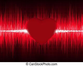 Elektrokardiogramm ECG mit Herzschlag. EPS 8
