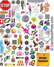elemente, design, sammlung
