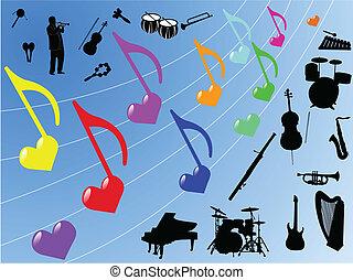 elemente, musik