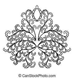 emblem, damast