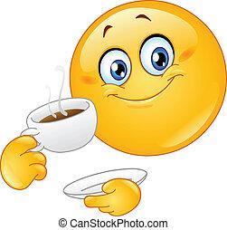 emoticon, bohnenkaffee