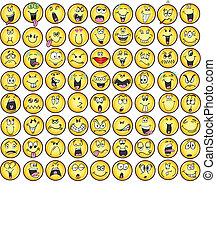 Emoticons emotionale Icon Vektoren