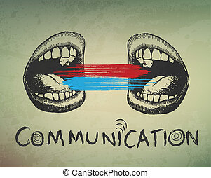 Empfindlicher abstrakter Hintergrund. Kommunikation