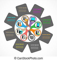 Enterprise Application Infographics.