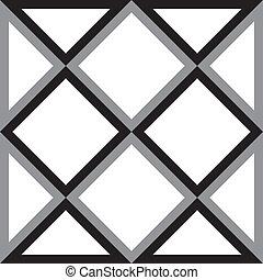 Entfernen Sie Diamantquadrat und Dreieck, versuchen Siedimensionale Illusion Hintergrund