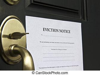 Entlassungsschreiben an der Tür
