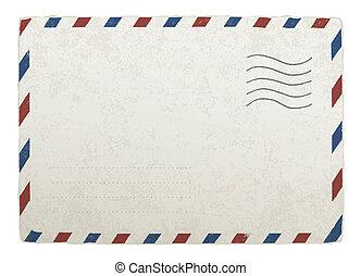 envelope., 10., weinlese, entwürfe, eps, vektor, schablone, postversand, dein