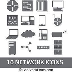 eps10, vernetzung, sammlung, ikone