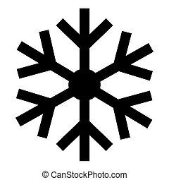 eps.10, zeichen, symbol, dreieck, isolieren, schneeflocke, weißes, warnung, hintergrund, abbildung