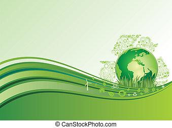 erde, umwelt, grün, b.a., ikone