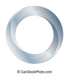 erdlaufbahn, abbildung, ring, silber, icon., vektor, design.