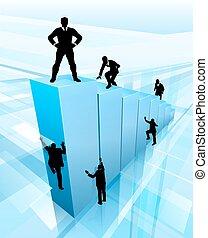 Erfolgreiche Geschäftsleute Silhouettes Konzept