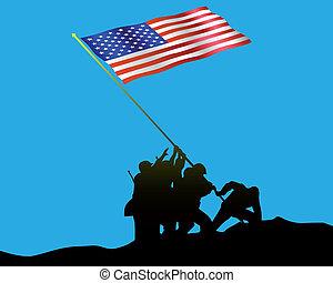 Erhebe die Flagge auf iwo jima