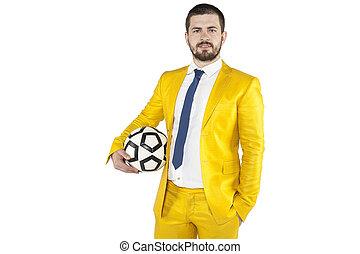 Ernster Fußballmanager.